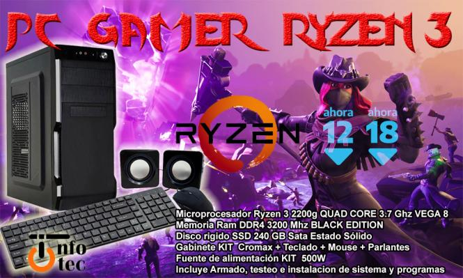 Pc Gamer Ryzen 3 2200G Combo 2